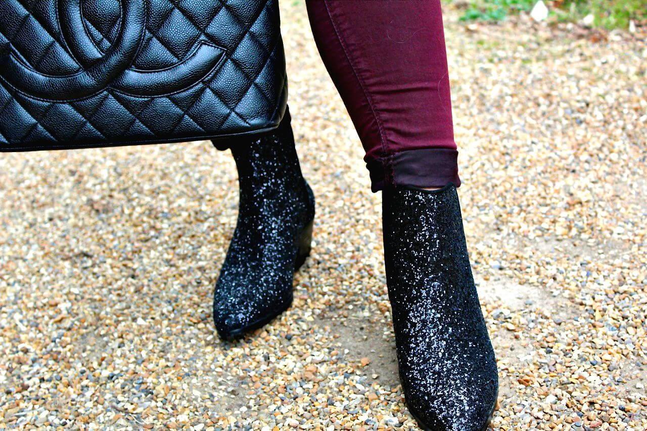 Sparkly ZARA boots