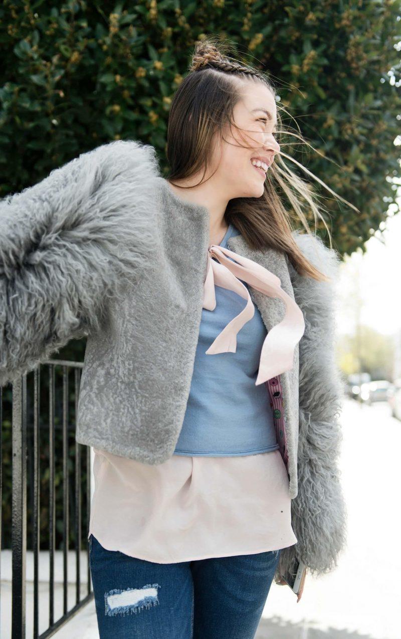 Feeling Fuzzy in Charlotte Simone Bomber