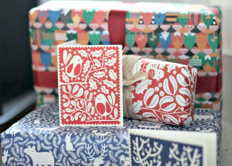 Lisa Jones Studio Wrapping Paper Christmas Cards