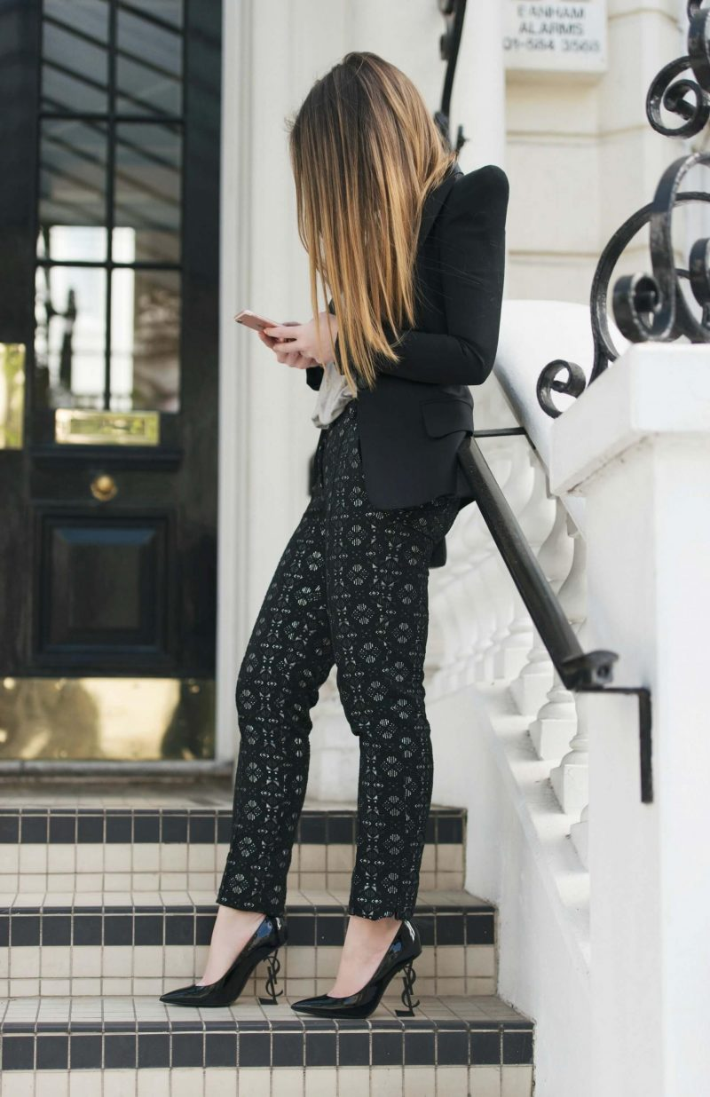 Jacquard Evening Trousers