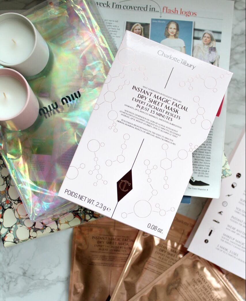 Charlotte Tilbury Instant Magic Facial Dry Sheet Mask Review