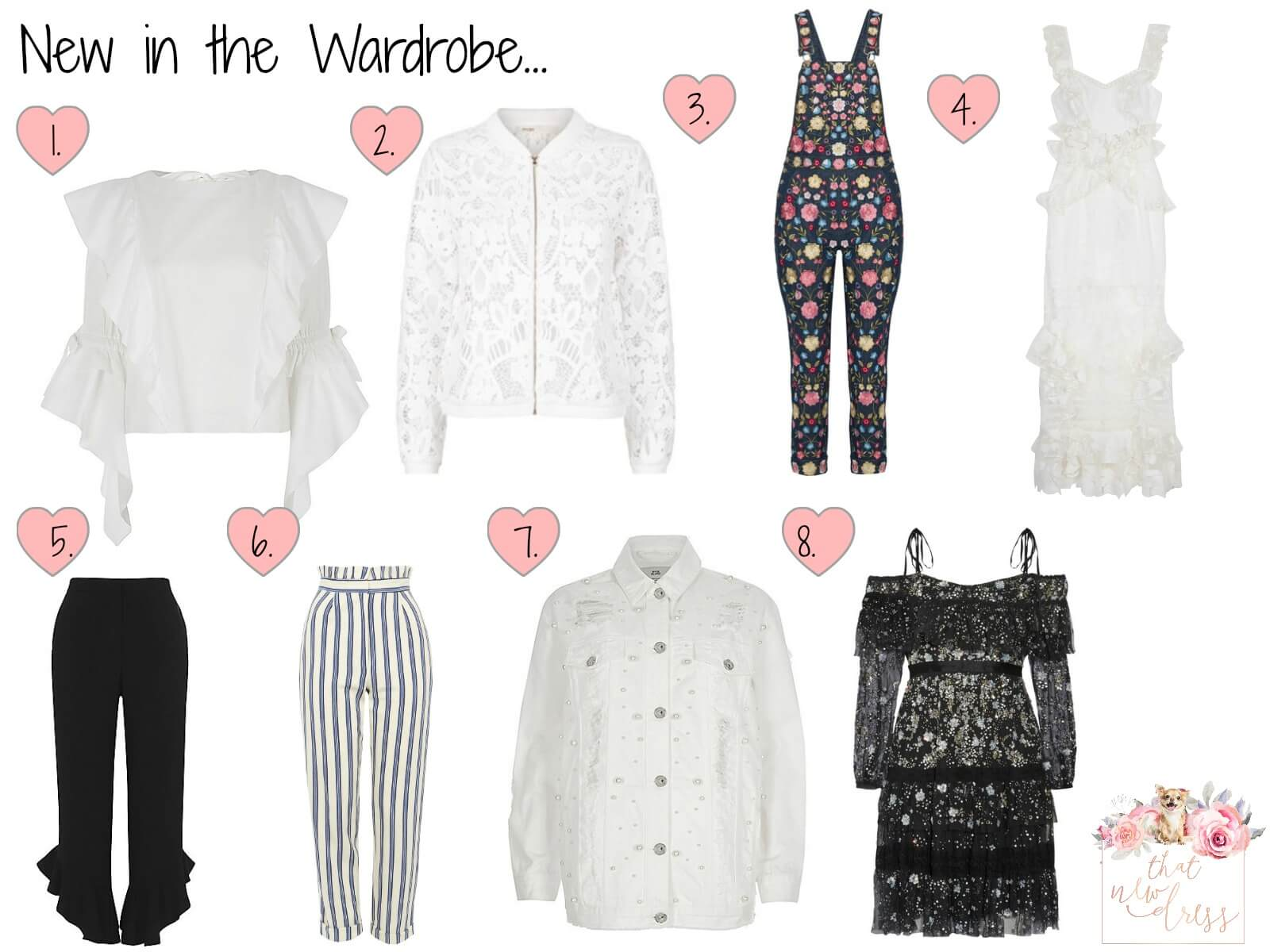New clothes in a bloggers wardrobe