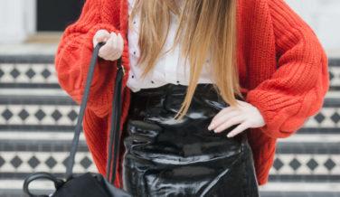 Primark vinyl mini skirt