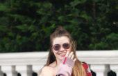 Hayley Menzies SHORT CAROUSEL CARDIGAN PINK/RED